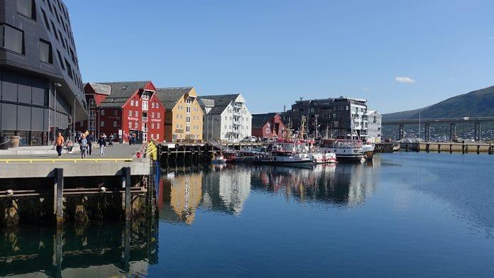 view little harbor of tromso