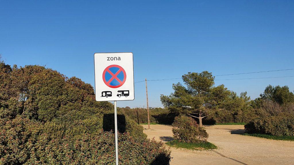 prohibited parking camper