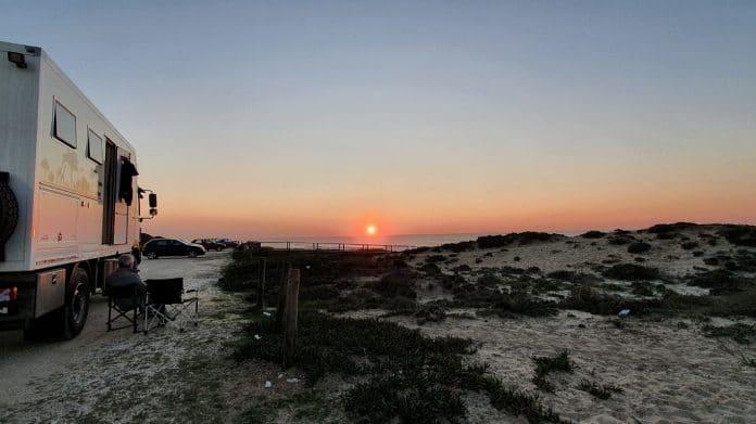 bakkie sunset