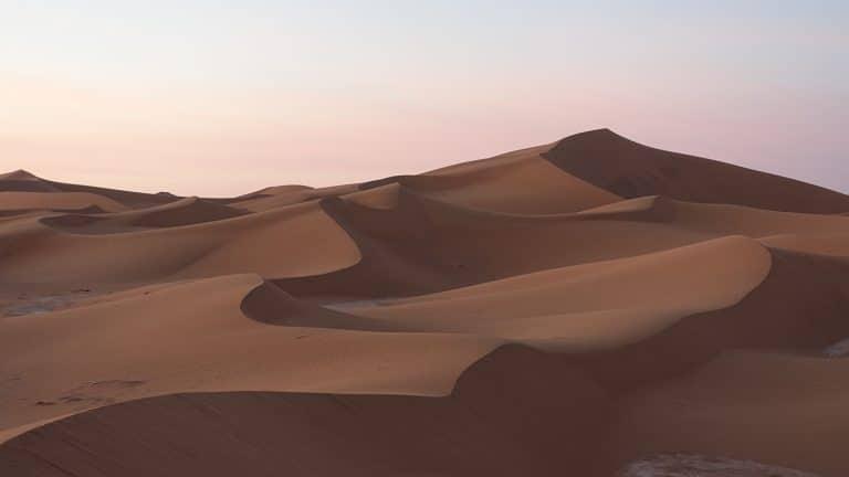 Film: Rijden door de woestijn