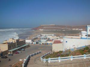 sidi ifni zicht op camping en zee