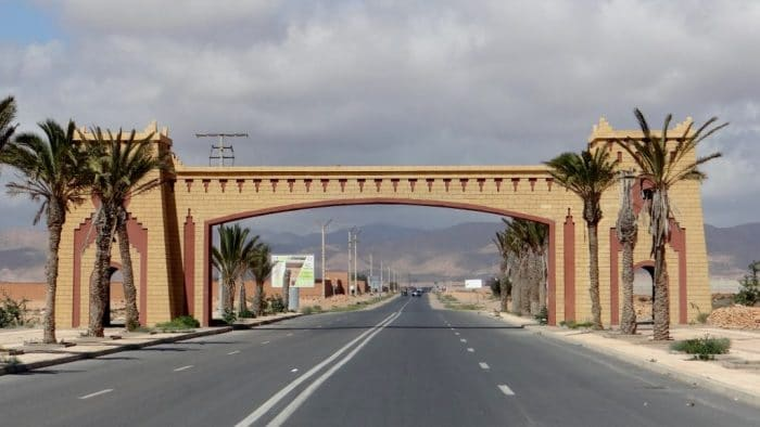 entrance gate to city of Guelmim