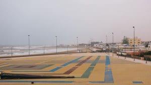 Nieuw plein aan het strand