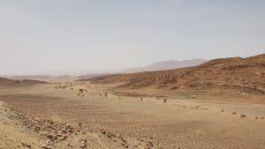uitzicht over woestijn vallei